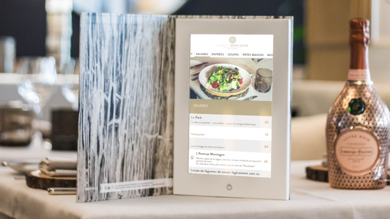 illustration La digitalisation des cartes et menus s